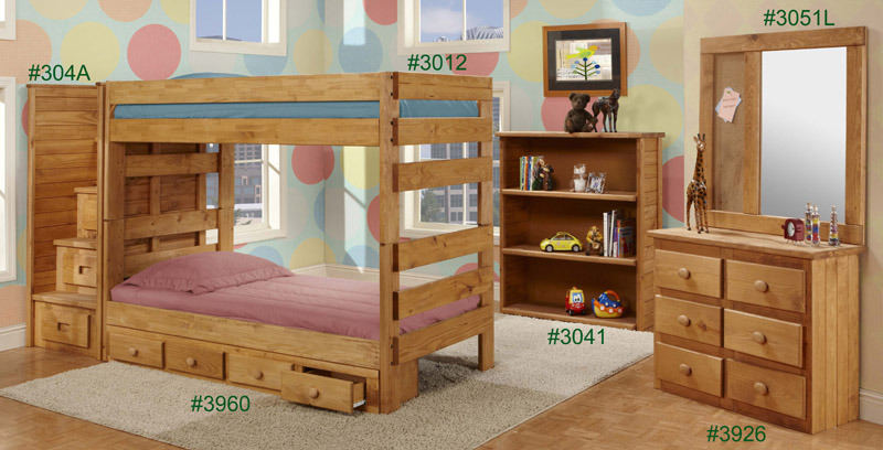 Pine Crafter Furniture 3012 Twin Stackable Bunk Bed