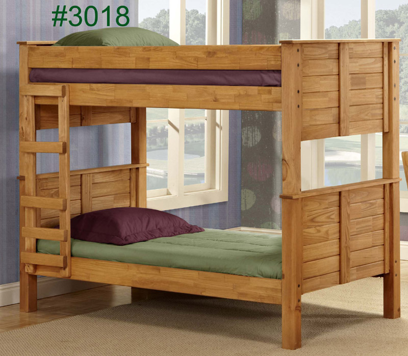 Merveilleux Pine Crafter Furniture 3018 Twin And Twin Post
