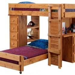 Pine-Crafter-Furniture-3972-Twin-and-Twin-Student-Loft-Bed