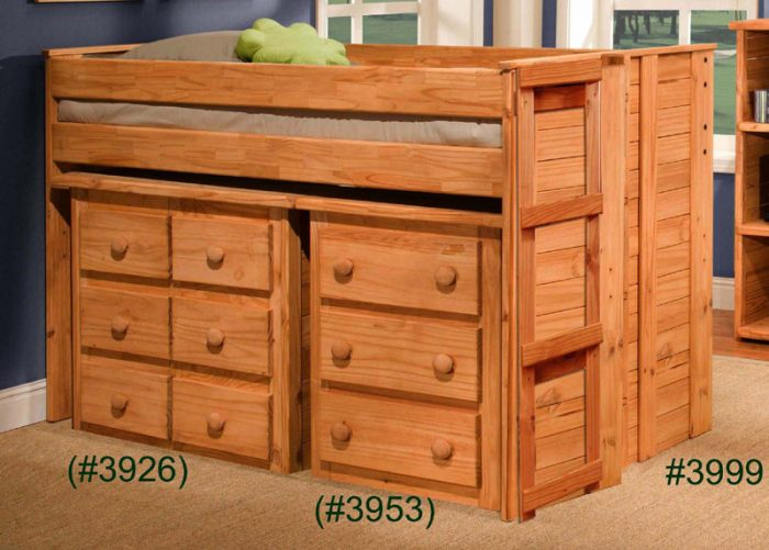 Pine-Crafter-Furniture-Twin-Jr.-Loft-Bed-with-Mini-Dresser-and-Three-Drawer-Chest